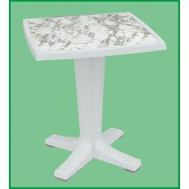 Giove Hvidt plast bord 65 x 65 cm.