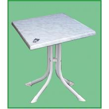 Hvid bord 70 x70 cm. Hvid Marmor-look (727)