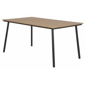 """153 x 90 cm. Bordkant i ALU og ben i Stål-stel Bordpladen er i NonWood i Teak-look  """"Peter"""" (277B)"""