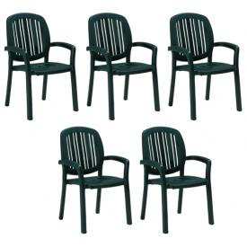"Stabel stol Grøn Plast ""Creta"" fra Nardi (149A) 5 Stk."