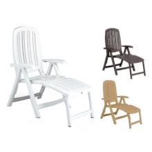 """5-pos. højrygget klap- stol med fodstykke fåes i 3 farver """"Salina"""" (126A+126B+127A)"""