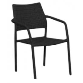 "Stabelbar stol Sort ""Lucca"" (139B)"
