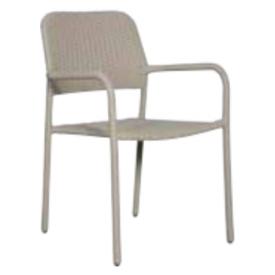 "Stabelbar stol på Stål-stel. Taubefarvet ""Jens"" (136B)"