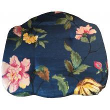 Hynde Blå med blomster 45 x 43 cm. kro stol (Rast udsalg) 4stk