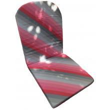 Hynde rød og grå skrå-stribet bomuld større 25B