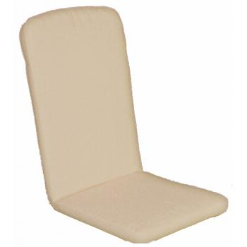 Havehynde 50x48/75 cm.= 6036  Høj ryg pos. Beige Ensfarvet (Dess.702)