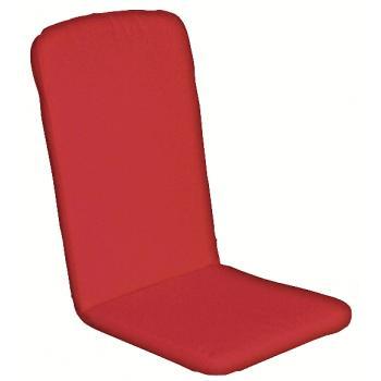 Havehynde 50x48/75 cm.= 6236 Høj ryg pos. Farari-Rød Ensfarvet (Dess.703)