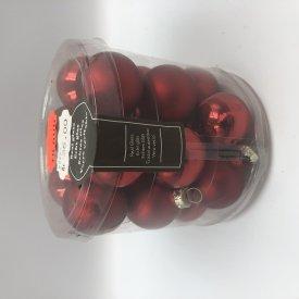 Julekugle rød (3cm) 18 stk