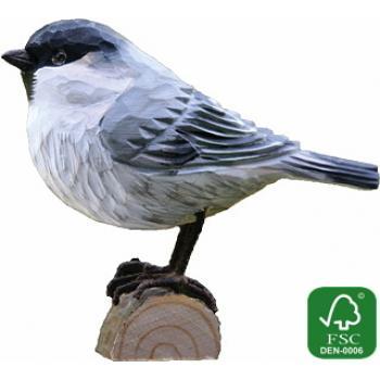 Fugle i træ - Fyrremejse (ca. 10 cm. høj)