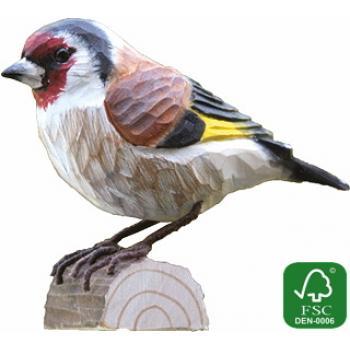 Fugle i træ - Bogfinke (ca. 10 cm. høj)