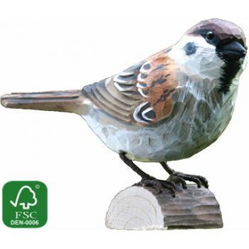 Fugle i træ - Skovspurv  (ca. 10 cm. høj)