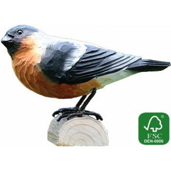 Fugle i træ - Dompap (ca. 11 cm. høj)