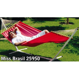 """Miss Brasil  """"DURACORD""""  Hænge-KØJE Ensfarvet Pink 80 cm pind, 200 x 140 cm.  (548A)"""