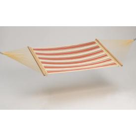 """Carolina dobb.  """"DURACORD""""  Hænge-KØJE Ecry / Beige / Orange  Fiber Quilted 140 cm pind, 200 x 140 cm. (554B)"""